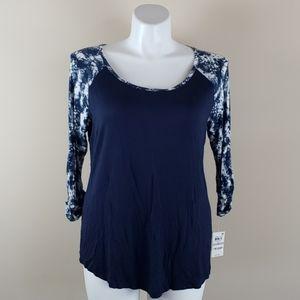 Style & Co Blue Blouse